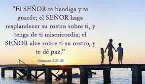 El Señor te bendiga y te guarde....
